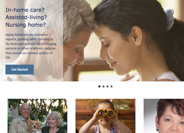 SEO website content geriatric care
